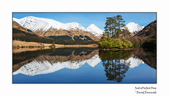 Just a Perfect Day (Dave Dummett) Tags: winter snow reflections scotland lakes perfectday glencoe lochanurr