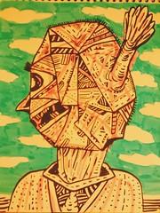 Cabeza rara. #drawing #draw #drawings #draws #dibujo #dibujos #doodle #doodles (DIGIPOPS) Tags: drawing drawings doodle doodles draw dibujos dibujo draws
