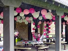 Raining on the party (durand clark) Tags: party rain balloons cincinnati celebration sharonwoods olympusem5