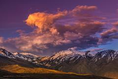 Ending the day with Box Elder Peak (Darhawk) Tags: sunset mountain colors clouds landscape outdoors utah spring metro peak saltlakecity slc boxelder alpineutah