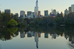 Cityscape Rotated (Lojones13) Tags: city lake newyork water skyline centralpark rotated relections