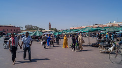 Djemaa el Fna to Koutoubia mosque (tattie62) Tags: travel people tourism places mosque morocco marrakesh koutoubia djemaaelfna
