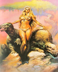 A Selection Of Futuristic Sci-Fi Artwork From My Sci-Fi Books : Encyclopedia Of Science Fiction Foreward By Isaac Asimov 1978 Princess Of Mars By Boris Vallejo - 11 Of 22 (Kelvin64) Tags: from fiction mars by artwork princess isaac selection books science scifi boris 1978 asimov vallejo futuristic encyclopedia foreward a my of