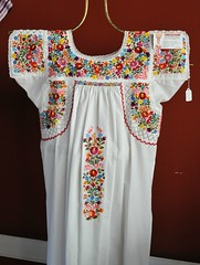Mexican Embroidered Dress Oaxaca (Teyacapan) Tags: flowers museum mexico clothing dress needlework embroidery sewing mexican textiles vestido oaxacan zapotec sanjuanchilateca