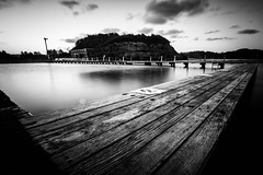 Narabeen Rock Pool (michael.refalo) Tags: beach pool monochrome rock nikon long exposure sigma australia nsw nd 1000 narabeen
