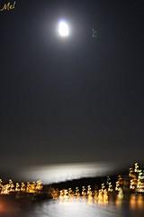 Villefranche sur Mer by night (Melody Rubeli) Tags: ocean sea sky mer moon black night lune mare view nuit villefranchesurmer