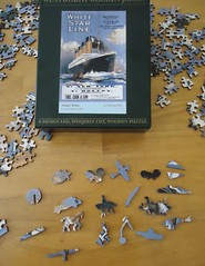 Wentworth Wooden Jigsaw puzzle from the U.K. - Titanic Poster - 250 pieces (Helen725) Tags: uk puzzle wentworth jigsaw titanic whimsies woodenpieces