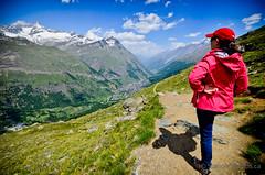 On the Mark Twain Weg above Zermatt (Station Studios) Tags: switzerland hiking events places gornergrat zermatt robinmargaret