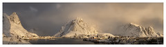Lofoten sunrise (twistednoodle) Tags: light panorama sun snow mountains ice norway clouds sunrise happy moody cloudy magic lofoten fishingvillage 2016 kathsalier sonya7rii