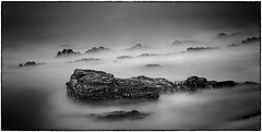 "Misty Rocks (James A. Crawford - ""Crawf"") Tags: ocean california longexposure wallpaper sky blackandwhite bw usa white seascape black art beach nature water monochrome photoshop canon landscape eos blackwhite rocks waves fineart creative textures ripples canoneos digitalphotography edges sanluisobispocounty longexposures ndfilter creativephotography neutraldensityfilter neutraldensity blackwhitephotos efex natureplus innamoramento niksoftware creativedigitalphotography tonalcontrast blackandwhiteonly creativepostprocessing dfine20 ononephototools viveza2 silverefexpro2 colorefexpro4 imageborders"