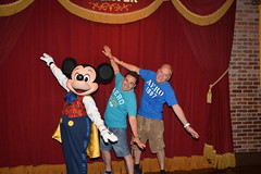 Mickey with Stuart and Chris (chrisshimmin-vincent) Tags: world mouse magic kingdom disney mickey parade