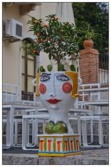 Ceramic Head, Taormina (junepurkiss) Tags: italy ceramic sicily taormina ceramichead ceramicplanter ceramicplantpot