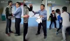 นร.จีนไม่พอใจครูทวงข้อสอบ รุมตื้บคาห้องเรียน     คลิปวิดีโอดังกล่าวที่มีความยาวราว 1 นาทีแสดงให้เห็นครูบีบคอเด็กนักเรียนคนหนึ่ง ก่อนที่เพื่อนนักเรียนในห้องกลุ่มหนึ่งจะเข้ามาช่วยกันรุมทำร้ายครู ทั้งต่อย เตะ ถีบและทุบตี รวมถึงมีนักเรียนคนหนึ่งใช้เก้าอี้ไม้ม