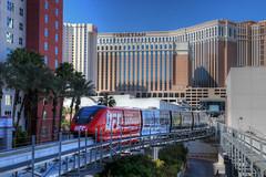 Las Vegas: Monorail (Lee Nichols) Tags: tourism photoshop lasvegas casino venetian monorail hdr highdynamicrange lasvegasboulevard lasvegasstrip photomatix tonemapped tonemapping handheldhdr lasvegasmonorail lvmonorail canoneos600d