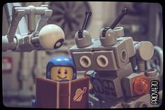 Happy World Book Day! (Priovit70) Tags: eye reading book lego space spacestation benny worldbookday mrrobot minifigures classicspace olympuspenepl7