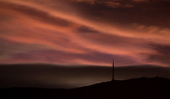 softer than shadow (keith midson) Tags: sunset sky mountain night clouds dark dusk tasmania hobart mtwellington kunanyi