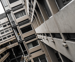 Lines and buildings. (CWhatPhotos) Tags: pictures old uk windows england cold color colour building window lines vertical horizontal architecture modern that concrete photography office 60s day foto durham with angle image artistic pics north picture shapes angles pic olympus images east have photographs photograph ii fotos government passport which f8 sixties mk contain partial omd em10 1442 cwhatphotos