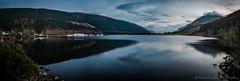 Loch Lochy Panorama (jasonmgabriel) Tags: blue panorama mountain lake tree clouds landscape boats scotland highlands scenery rocks long exposure loch hivemind