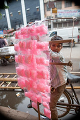 cotton candy seller in New Delhi (BDphoto1) Tags: pink boy people india outdoors candy market indian traditional streetphotography cottoncandy selling cultural newdelhi verticalphotograph thehnic