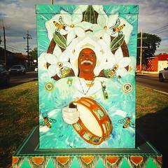 Broad St., New Orleans - Community Visions Unlimited Utility Box Project (woody lauland) Tags: art la louisiana neworleans publicart nola mardigrasindian neworleansla utilitybox artinpublicspaces hipstamatic hipstaprint communityvisionsunlimitedutilityboxproject communityvisionsunlimited cvunola