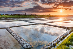 Sunset on the Salt Marsh in South Brittany (Loc Lagarde) Tags: canoneos5dmarkiii