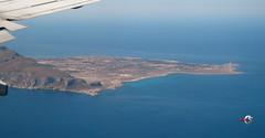 Flying: Trapani - Favignana island - Italy (claudios53) Tags: italy island mare aerialview aereo paesaggio trapani favignana aerea vistaaerea volare