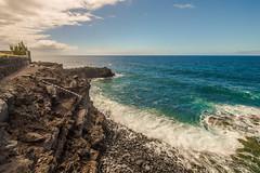 Stair to Nowhere (Vladi Stoimenov) Tags: ocean light sea sky color nature water colors wonderful landscape nice spain nikon waves wind atlantic nikkor lapalma atlanticocean d610 nikonlens elremo stoimenov nikkor1424