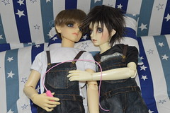 New Bed (martin_132) Tags: boy fetish bed play bib teen overalls bjd dungarees kink