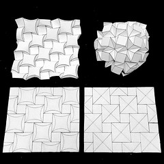 (mike.tanis) Tags: art architecture paper design origami curved tessellation creasepattern ronresch