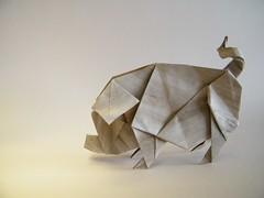 Pig (Cochon) - Gen Hagiwara (Rui.Roda) Tags: pig origami gen cochon papiroflexia cerdo porco hagiwara chancho shwein papierfalten
