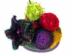 Freeform Fruit made for an Exhibition In Italy (freeform by prudence) Tags: crochet freeform scrumble crochetart prudencemapstone
