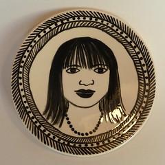 ceramic selfportrait (Gertie Jaquet) Tags: ceramic plate zelfportret bord keramiek gertiejaquet