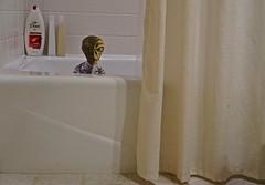 A Close Encounter With an Alien Who Took Up Residence in My Bathtub (ricko) Tags: bathroom alien shampoo bathtub showercurtain 2016 18366 werehere