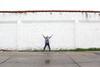 """x"" marks the spot (YetAnotherLisa) Tags: portrait brick wall self 365 xmarksthespot day16366 366the2016edition 3662016 16jan16 yetanotherlisa2016"