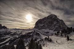 Sassolungo - Dolomiti (SalvaMarc) Tags: panorama mountain snow clouds landscape pentax dolomiti 10mm superski samyang sassolungo pentaxiani pentaxflickraward pentaxk50