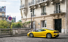 Don't park here ! (misterokz) Tags: paris yellow photography photo automobile 360 ferrari explore exotic shooting modena supercar challenge stradale misterokz