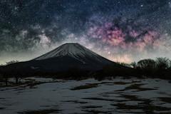 Fuji & the Galaxy (Yuga Kurita) Tags: nature japan night way stars landscape star mt mount galaxy fujisan milky fujiyama milkyway starscape fujii