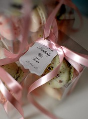 Macaron Wedding Favours (Kennet House Cakes) Tags: pink wedding green cake macaroon favor macaron favour