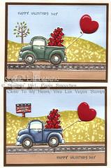 Valentine trucks (sophie.lafontaine) Tags: love up loads stampin valentinetrucks