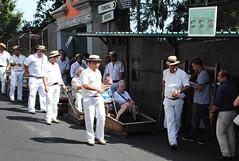 The Monte Toboggan Ride - Madeira (Mark Wordy) Tags: men island guys tourist downhill monte madeira funchal wickerbaskets tobogganride sledride