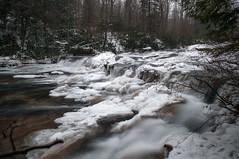 Cascades (dxd379) Tags: longexposure snow ice waterfall nikon stream pennsylvania pa cascades ohiopyle westernpennsylvania laurelhighlands d5000
