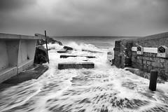 forty foot (zip po) Tags: morning ireland sea blackandwhite dublin landscape mono sandycove fortyfoot fulltide