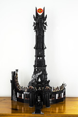 Tower of Barad-Dur, 90% Complete (S3ISOR) Tags: new tower army mod lego earth lord lotr rings zealand beast troll cave middle hobbit ideas comparison fell orc nazgul moria mordor moc warg orthanc baraddur 10237 baraddr cussoo anduin1710