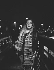 122/365 (Emily Moy Photography) Tags: nightphotography bridge portrait people blackandwhite college girl monochrome night work canon person photography mood emotion bokeh grain human 365 cinematic stress colorless ilovecoffee 365project emilymoyphotography emilymoy somuchblackandwhite