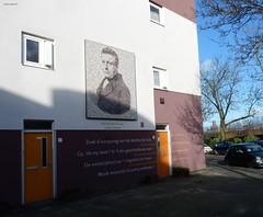 Da Costa Kade, Utrecht (bcbvisser13) Tags: street city house wall utrecht poem portret dacostakade isaacdacosta