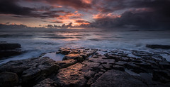 After the snow (Squareburn) Tags: seascape sunrise coast rocks northumberland dunstanburghcastle lownewton