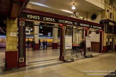 The underground platform at Baker Street, London