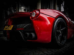 La Ferrari in London at Lloyd's (Alex Chilli) Tags: city red london car fast ferrari parked sportscar lloydsoflondon laferrari