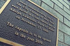 035 | 366 - CCNY fun fact (thelittleone417) Tags: college plaque canon 2000 canonrebel day35 ccny citycollege timecapsule 2050 canonrebelxs citycollegeofnewyork 365project