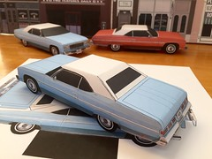 Papercraft Chevrolet Caprice Lt blue color PaperCar EZU-build 1975 Toy Model Car (official inspection station) Tags: chevrolet convertible papercraft caprice chevroletcaprice papertoy papercar